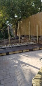 Trex decking framework